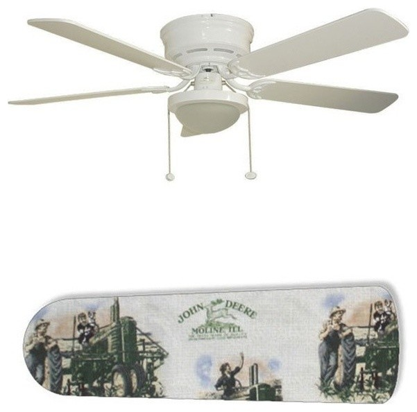 Old Fashion John Deere 52 Ceiling Fan With Lamp