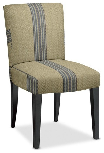 Fitzgerald upholstered side chair rustic yacht stripe for Striped upholstered dining chairs