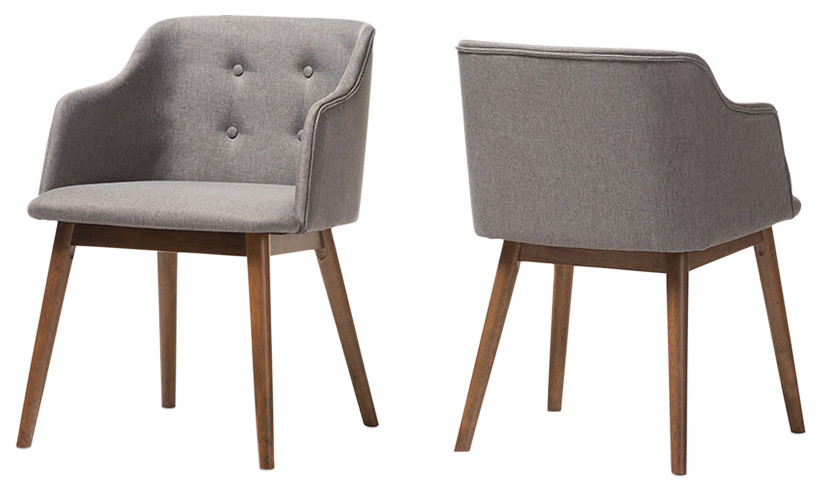 Harrison Mid Century Modern Tufted Accent Chair Set Of 2 Midcentury Dining Chairs By Hedgeapple
