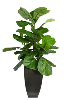 kalua faux fiddle leaf fig in planter - contemporary - artificial