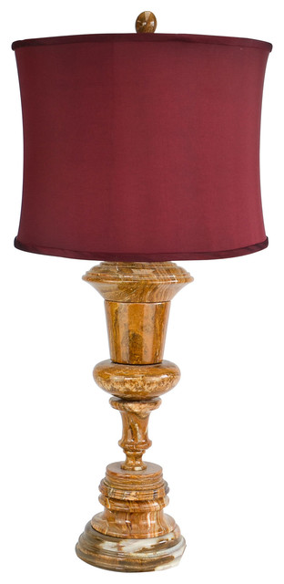 "32"" Tall Marble Table Lamp ""Luxon"", Amber"
