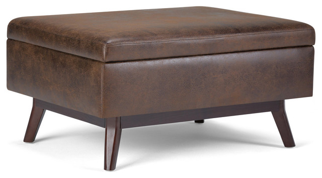 Owen 34 Mid Century Modern Storage Ottoman Midcentury Footstools And Ottomans By Simpli Home Ltd