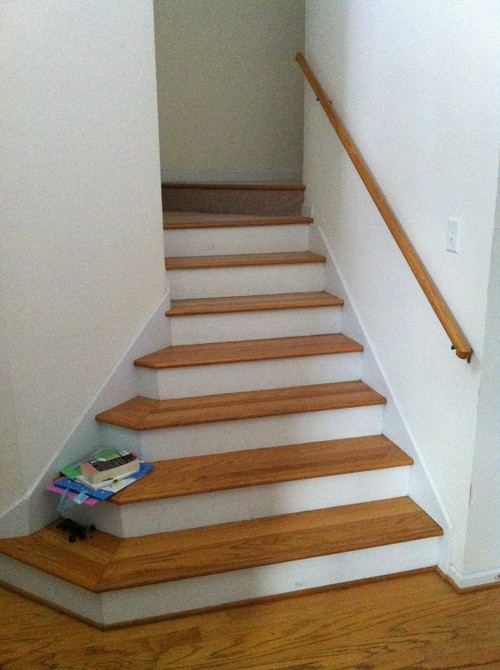 Paint Oak Floors And Stairs White