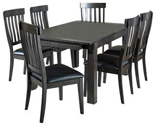 A-America Mariposa 8-Piece Leg Dining Room Set, Warm Gray