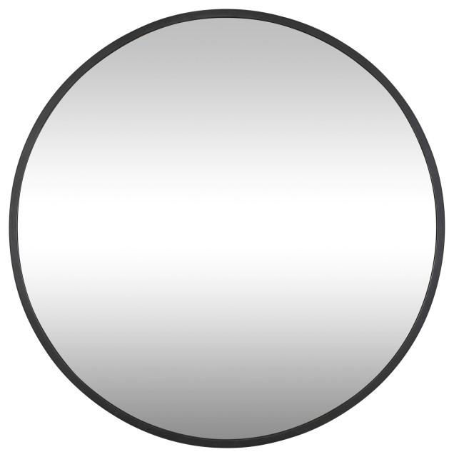 Cottage 30 Round Mirror Black, Inca Contemporary Full Length Leaner Mirror Black