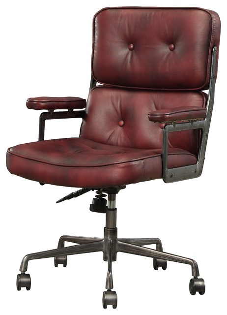 Outstanding Acme Larisa Executive Office Chair Vintage Merlot Top Grain Leather Theyellowbook Wood Chair Design Ideas Theyellowbookinfo
