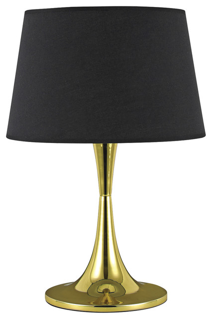 Ideal Lux London Table Lamp, Large, Brass