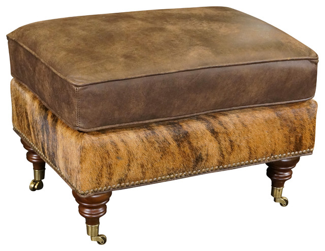 Astounding Gunner Leather Ottoman Inzonedesignstudio Interior Chair Design Inzonedesignstudiocom