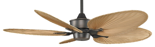 "Islander 52"" Ceiling Fan , Bronze Accent With Narrow Oval Palm Blades."