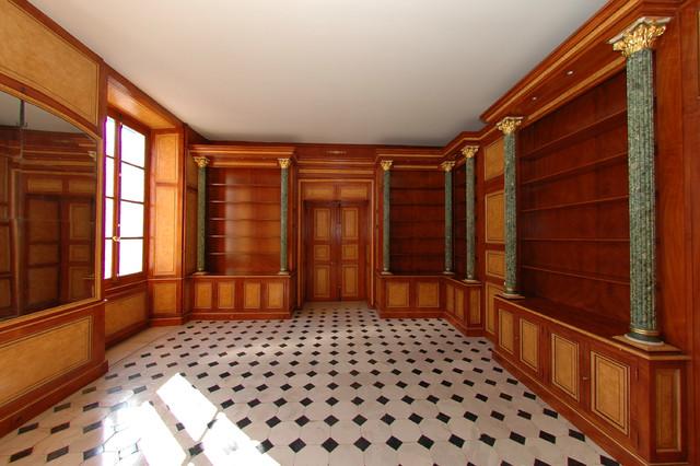 d cor de style empire dans une biblioth que d 39 un ch teau class classique chic paris par. Black Bedroom Furniture Sets. Home Design Ideas