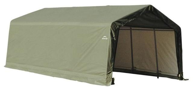 13&x27;x20&x27;x10&x27; Peak Style Shelter, Green.