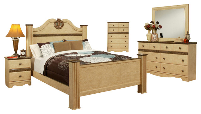 Sandberg Furniture Casablanca 6 Piece Bedroom Set Traditional Bedroom  Furniture Sets