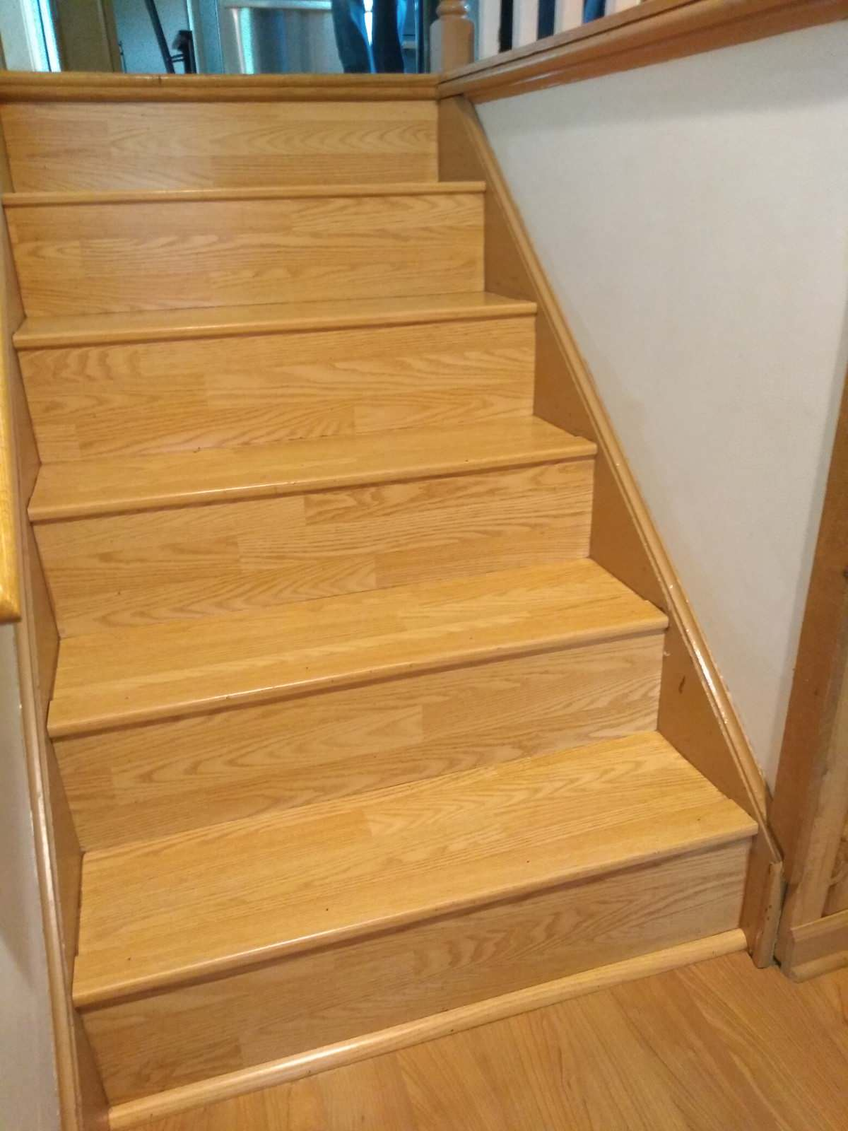 BEFORE old laminate steps