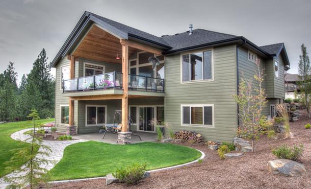 Daylight Basement Craftsman Seattle, House Plans With Daylight Walkout Basement