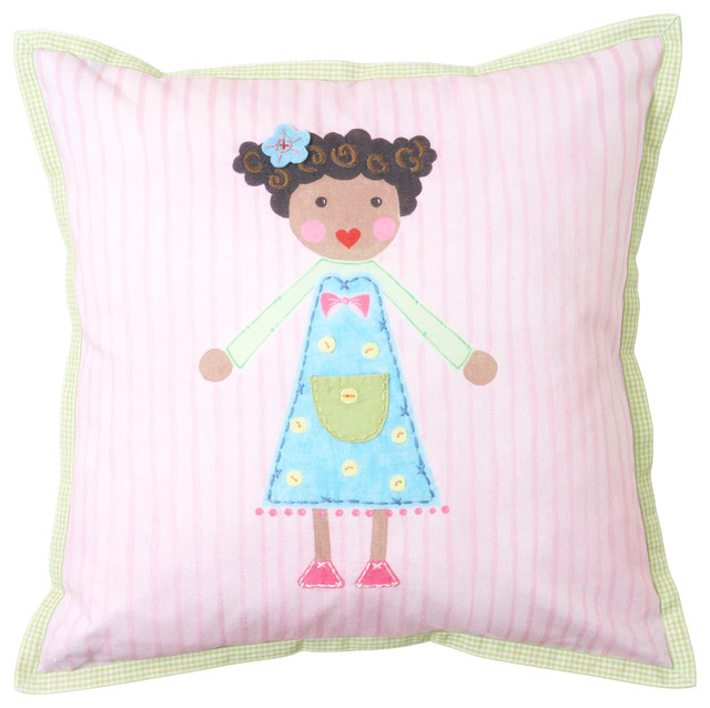 Blue Girl Toothfairy Pillow - Modern - Baby Bedding - by The Little Acorn