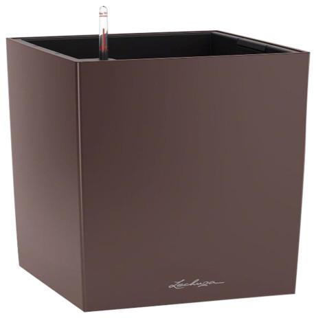 Cube Self Watering Planter, 50x50x50 CM, Espresso