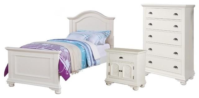 elements elements addison 3 piece twin bedroom set white