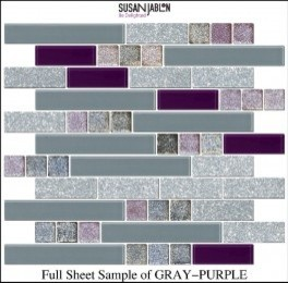 Full Sheet Sample of GRAY-PURPLE