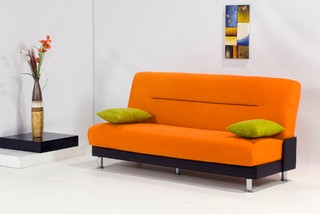 Laura Orange Sofa Bed Contemporary Sofas new york by FurnitureNYC