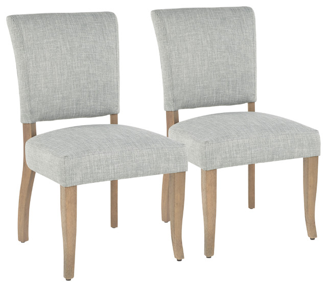 LumiSource Rita  Dining Chair, Ash Brown Wooden Legs and Seafoam Green, Set of 2