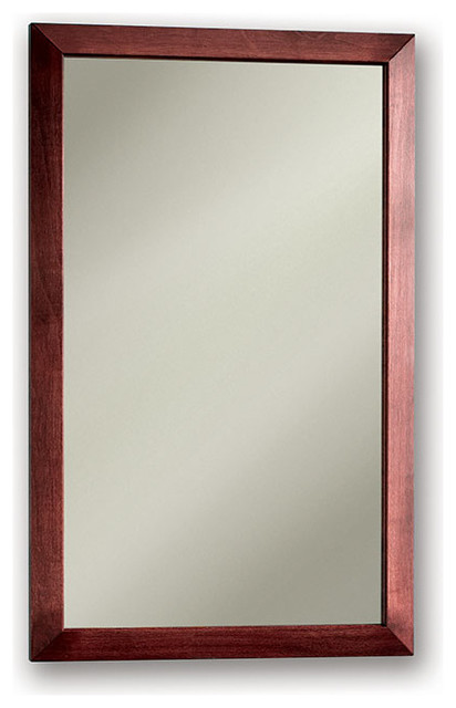"City 16 1/2""x26 1/2"" Recess Mount Cherry Medicine Cabinet."