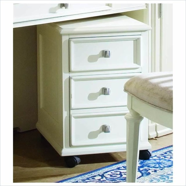 American Drew Camden Mobile 2 Drawer Lateral Wood File Cabinet Antique White - Traditional ...