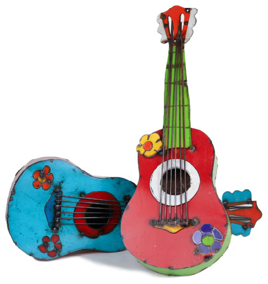 Shop Houzz Mexican Imports Recycled Metal Guitar
