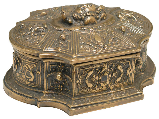 Decorative Box Lid : Houzz orchard creek designs brass box with lid