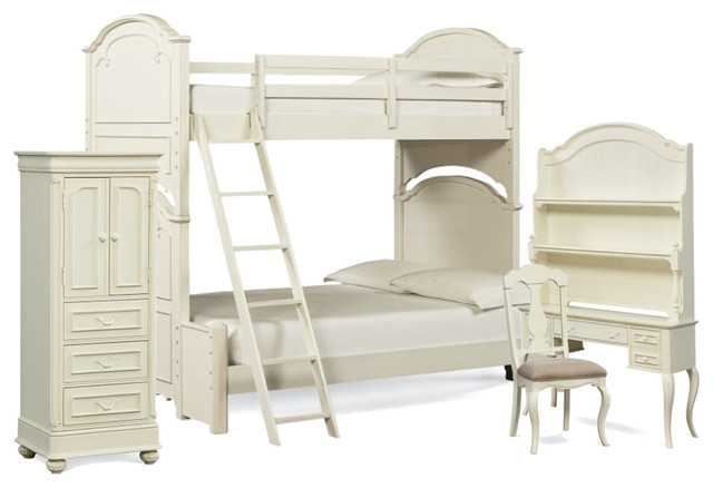Legacy Classic Kids Charlotte Bunk Bedroom Set, Twin-Over-Full.