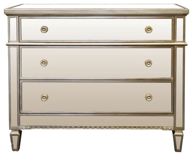 Borghese Mirrored 3-Drawer Chest.