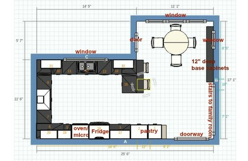 Kitchen Plans With Peninsulas kitchen layout again - island or peninsula?