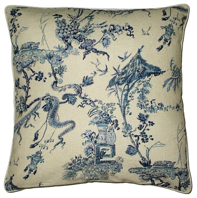 Amalfi Collection Toile Print Pillow Asian Decorative Pillows Enchanting Toile Decorative Pillows