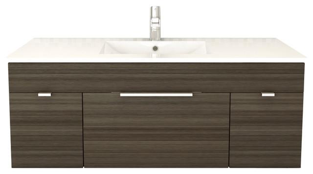 "Textures Spring Blossom 2-Door 1-Drawer Floating Bathroom Vanity, 48""."