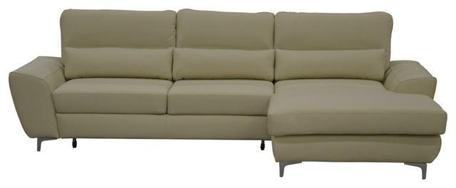 Tivoli Leather Sectional Sleeper Sofa Right Corner
