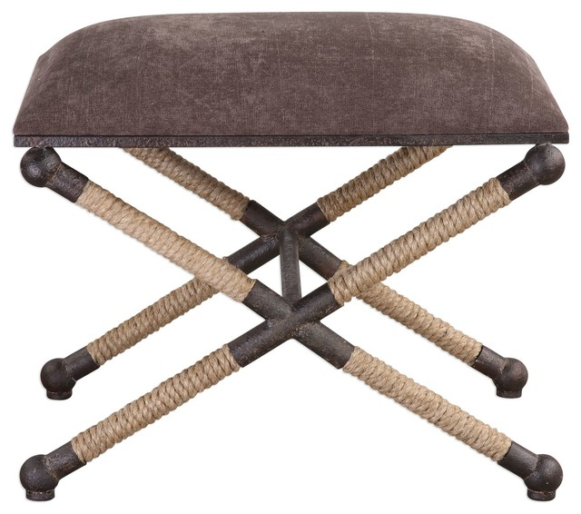 Outstanding Uttermost Evert Taupe Brown Accent Stool Cjindustries Chair Design For Home Cjindustriesco