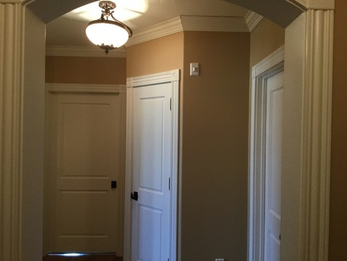 Is anyone doing 8 ft doors with a 9 ft ceiling for 9 foot exterior doors