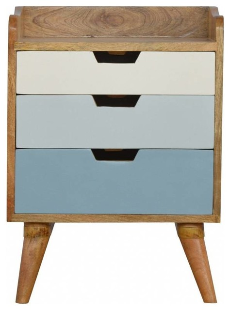 Nixon Bedside Table, Blue