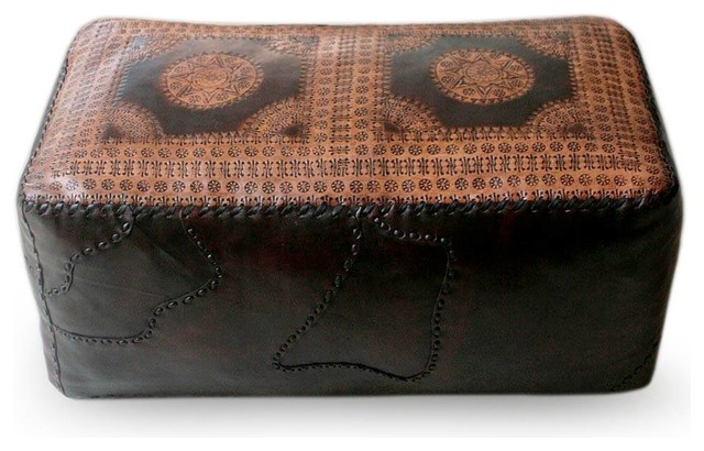Pleasant Dual Universe Leather Ottoman Cover Double Inzonedesignstudio Interior Chair Design Inzonedesignstudiocom