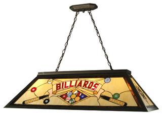 Springdale Billards Island Hanging Fixture Contemporary Pool - Contemporary pool table light fixtures
