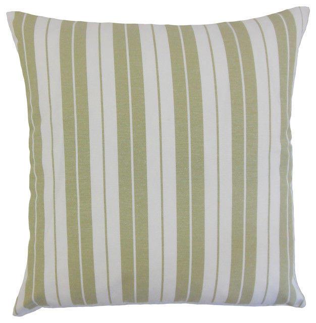 The Pillow Collection Henley Stripes Bedding Sham Sage