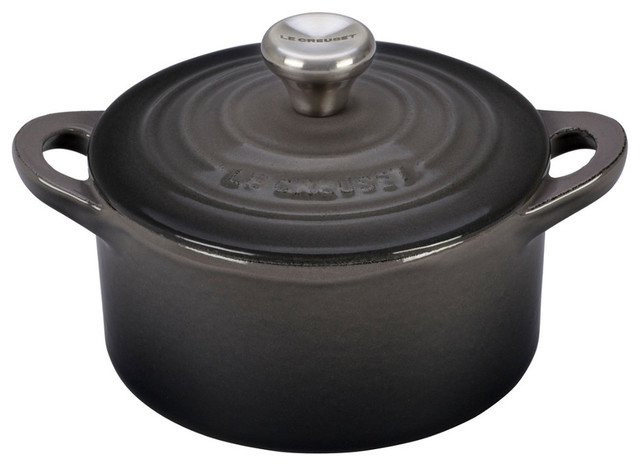 Le Creuset Cast Iron Mini Cocotte With Stainless Steel Knob, 1/3-Quart, Oyster.
