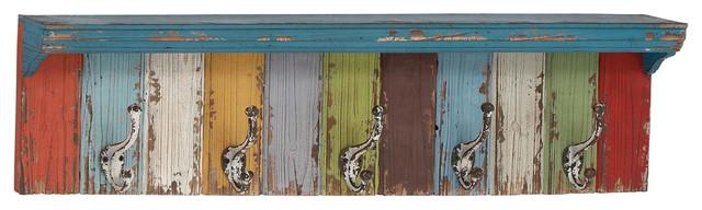 Paintbox Storage Shelf With Hooks.