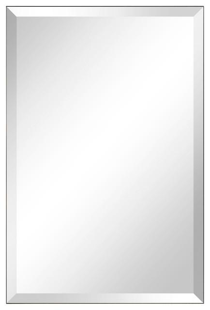 Frameless Beveled Prism Rectangle Wall Mirror 1 Edge 30 X20