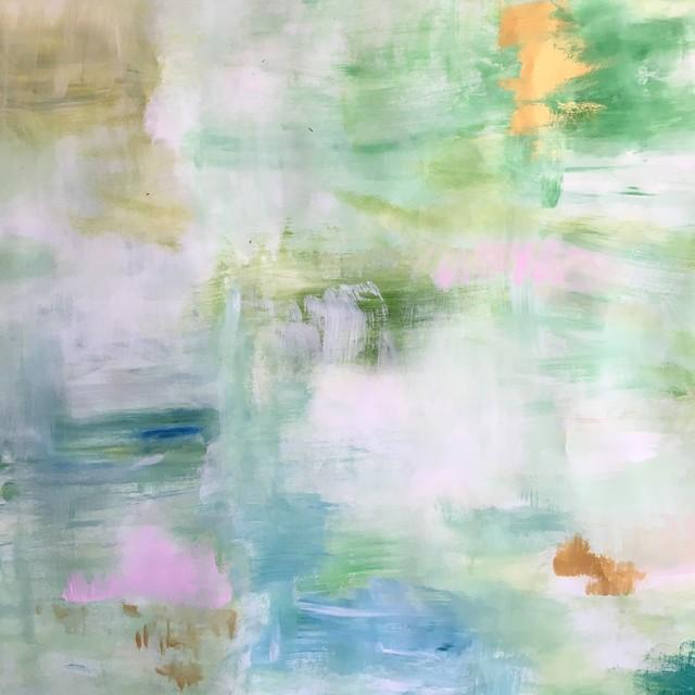 Sunlit Pond Painting