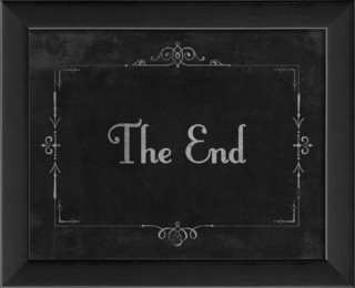 Silent Movie Quot The End Quot Framed Artwork Traditional