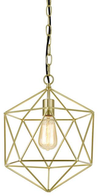 Bellini 1-Light Chandelier, Brushed Gold.