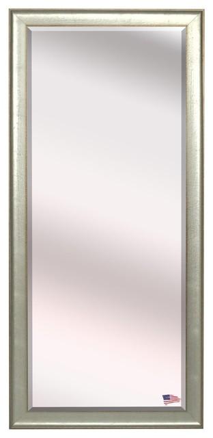 Us Made Vintage Silver Beveled Full Body Mirror, Oversized.