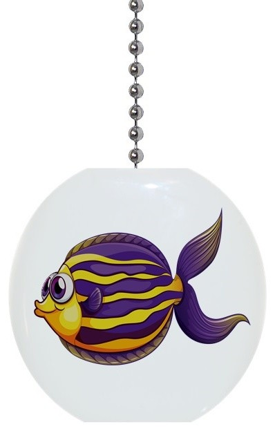 Purple yellow fish with big eyes ceiling fan pull beach style purple yellow fish with big eyes ceiling fan pull beach style ceiling fan mozeypictures Gallery