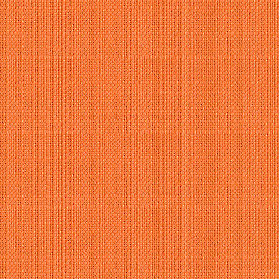 Bright Orange Faux Linen Indoor Outdoor Fabric & Reviews | Houzz