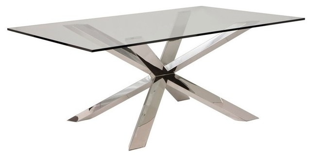 Midhi Dining Table, Chrome